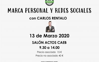 INSCRÍBETE AL CURSO *MARCA PERSONAL Y REDES SOCIALES* con Carlos Rentalo