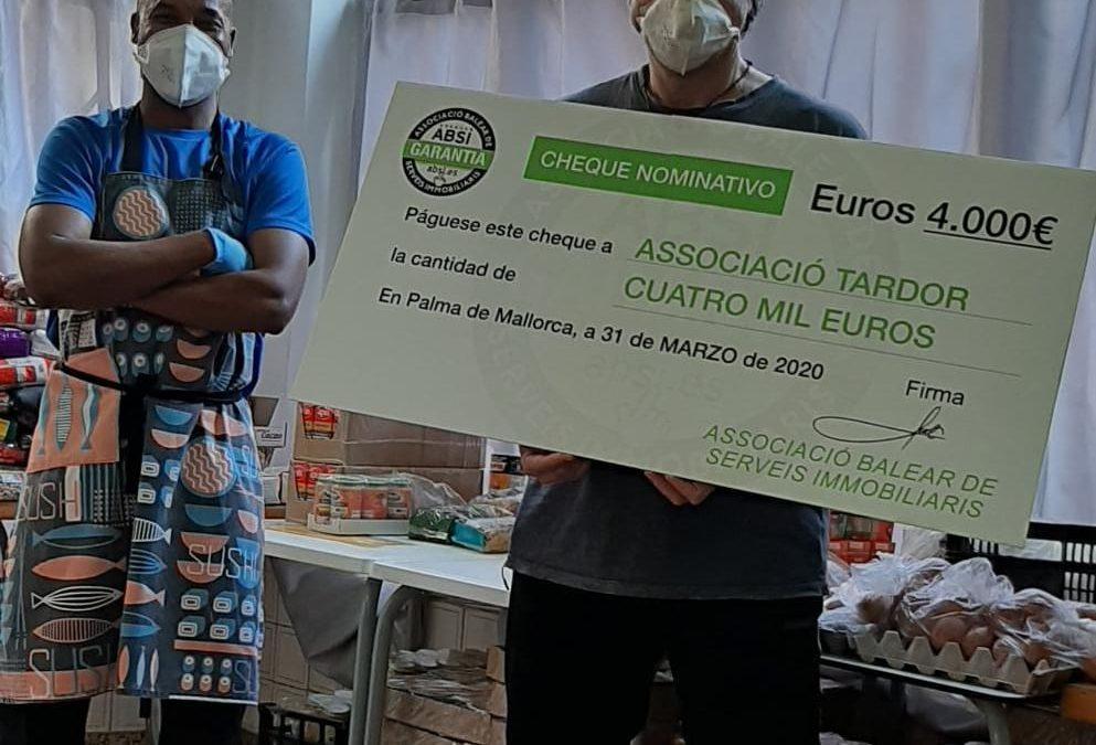 ABSI dona las cuotas de asociados del mes de marzo a la Asociación Tardor