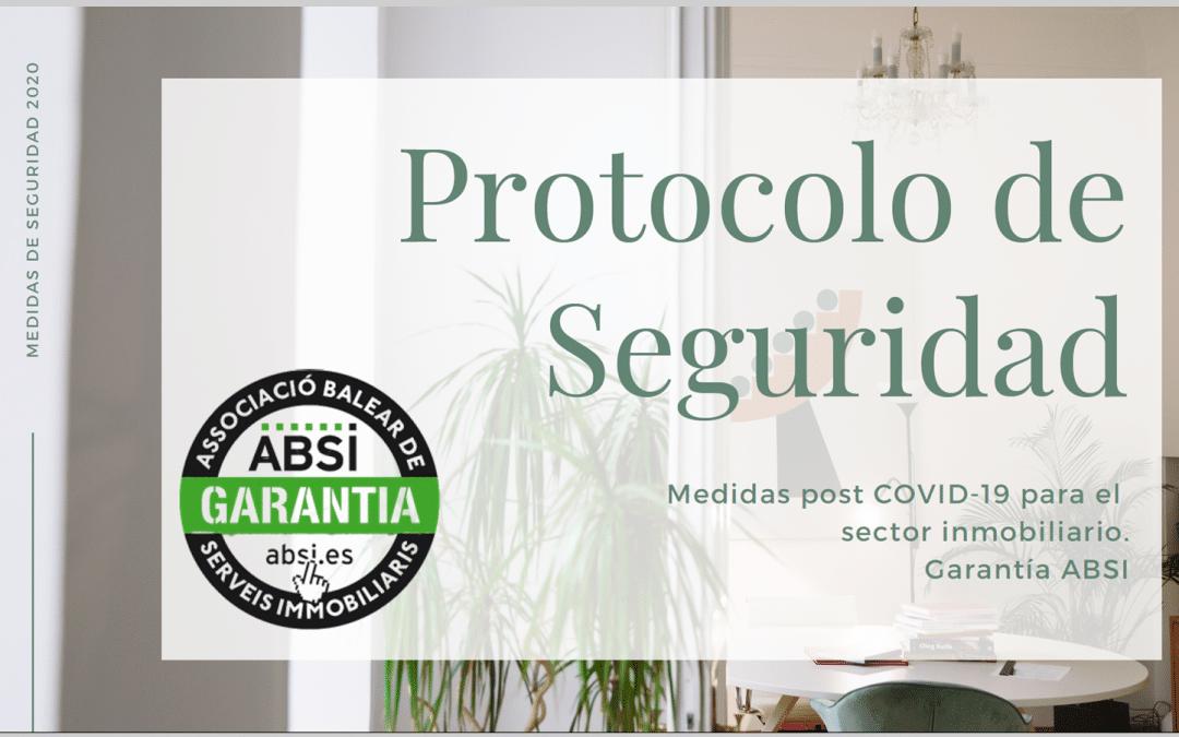 ABSI publica el Protocolo de Seguridad post COVID-19 para el sector inmobiliario balear