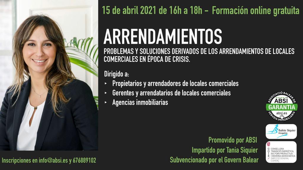 ABSI ORGANIZA UNA WEBINAR GRATUITA SUVENCIONADA POR EL GOVERN SOBRE ARRENDAMIENTOS DE LOCALES EN ÉPOCA DE COVID