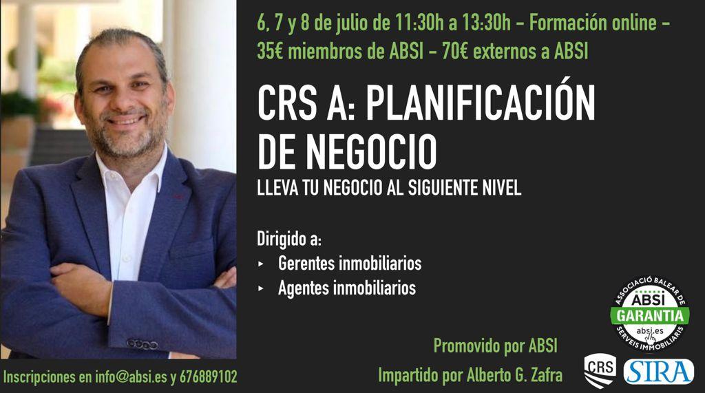 INSCRIPCIÓN CRS A – PLANIFICACIÓN DE NEGOCIO- con Alberto G. Zafra