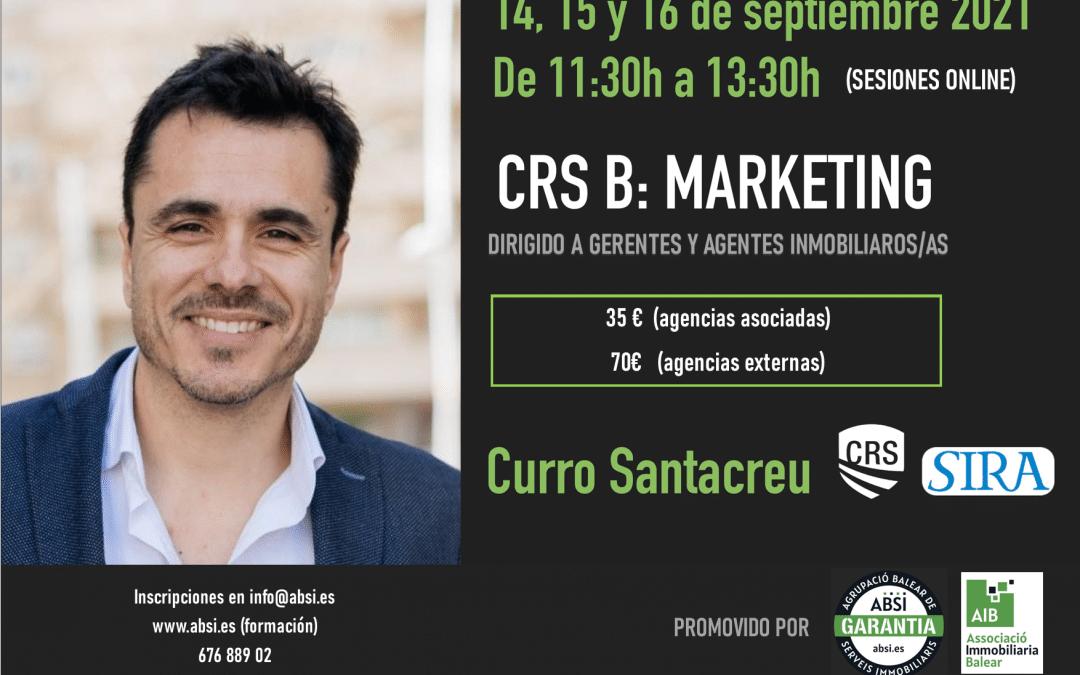 INSCRIPCIÓN CRS B – MARKETING- con Curro Santacreu